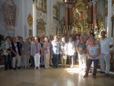 Foto zur Meldung: Seniorenausflug zur Wallfahrtskirche Mariahilf bei Amberg