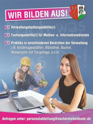 Vorschaubild zur Meldung: Stellenausschreibung zur Ausbildung als Verwaltungsfachangestellte/r
