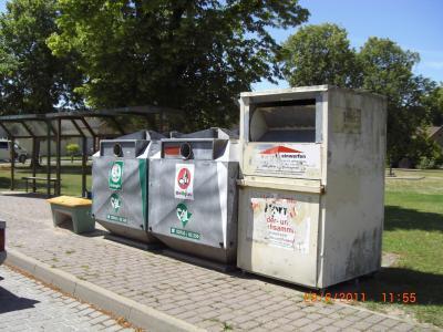 Foto zu Meldung: Glascontainerstellplatz Stegelitz