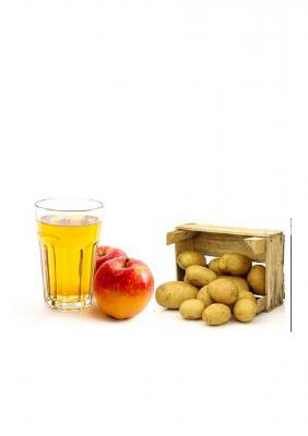Apfel und Kartoffeln