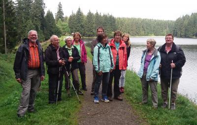 Foto zur Meldung: Gymnastik-Damen I wandern am Oberharzer Wasserregal