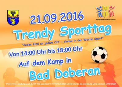 Foto zur Meldung: Trendy Sporttag in Bad Doberan am 21. September 2016