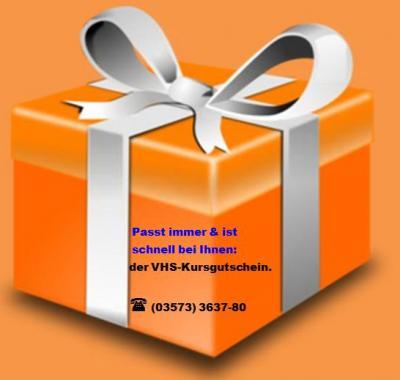 Vorschaubild zur Meldung: KVHS: Kursgutschein als Weihnachtsgeschenk