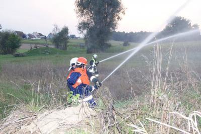 Foto zur Meldung: Einsatzübung in Giebing