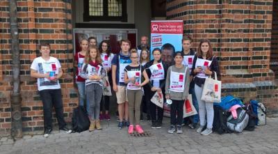 """Foto zur Meldung: Aktionstag zum Thema Lepra in Klasse 8 + Aktion """"Stifte die helfen"""""""