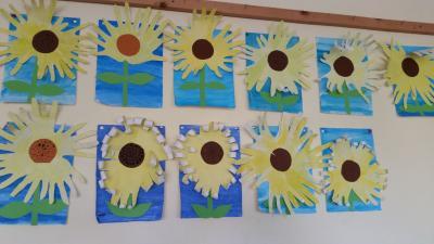 Foto zur Meldung: Kunstarbeiten der 4., 5. und 6. Klassen