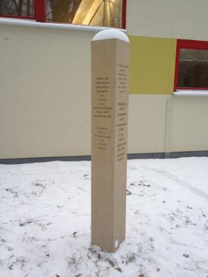 Gedenkstele für die hingerichteten Täufer