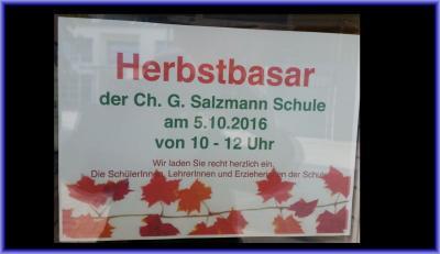 Foto zur Meldung: Herbstbasar 2016
