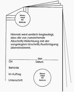 Foto zu Meldung: Das Bürgerbüro informiert: amtliche Beglaubigungen von Schriftstücken und Unterschriften