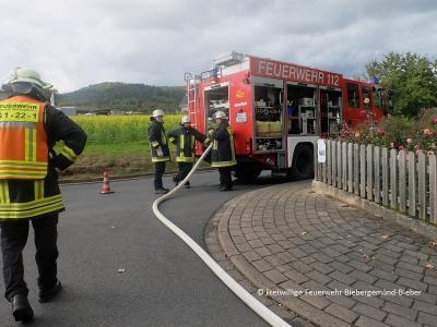 Vorschaubild zur Meldung: 8-Stundenübung der Feuerwehr Roßbach - Teilnehmer aus Bieber, Lanzingen, Breitenborn, Flörsbach und Kleinkahl durchleben verschiedenen Einsatz-Szenarios