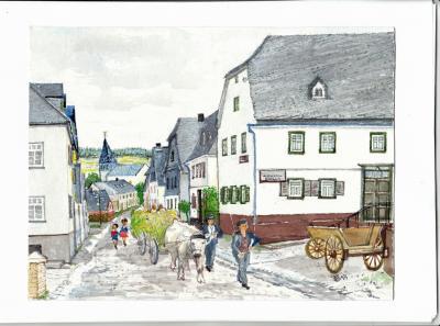 Dorfstraße 1935 - Ohlweiler Ortsmitte