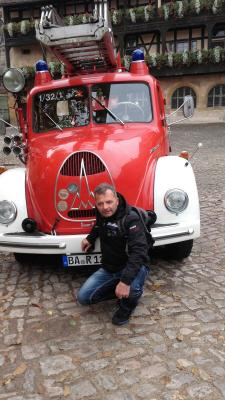 Foto zu Meldung: Besuch Feuerwehr Bamberg