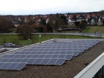 Photovoltaik-Anlage auf dem Friedel-Scherer-Feuerwehrhaus