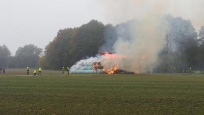 Foto zur Meldung: Brandeinsatz B4 - 1.11.2016 in Weichs