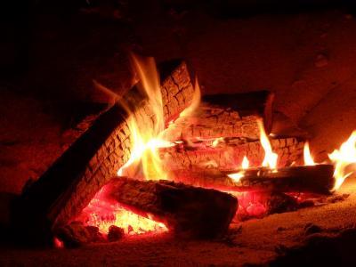 Foto zu Meldung: Holzfeuer im Freien