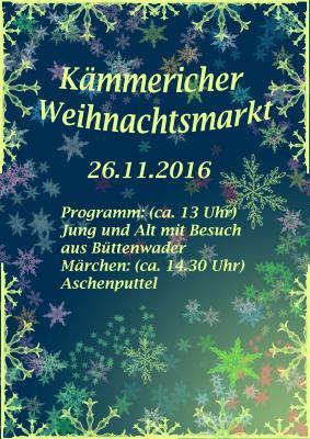 Foto zur Meldung: Kämmericher Weihnachtsmarkt 2016