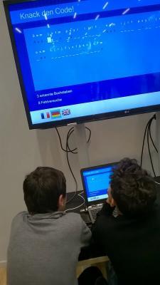 Schüler knacken den Geheimcode