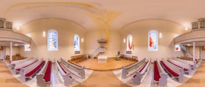 Vorschaubild zur Meldung: Evangelische Kirche Ohlweiler/Gestaltung E. Münch 2015/2016