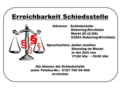 Vorschaubild zur Meldung: Die Schiedsstelle der Stadt Doberlug-Kirchhain ist umgezogen