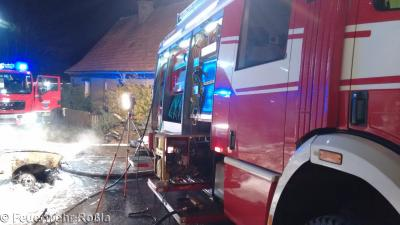 Foto zur Meldung: Brandeinsatz - Garagenbrand