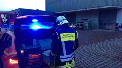 Foto zur Meldung: Brandalarm im Gewerbegebiet Vierkrichen
