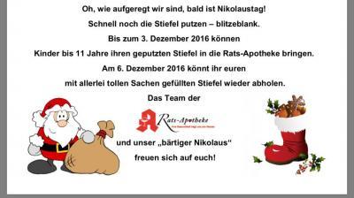 Foto zur Meldung: Nikolaus in der Rats-Apotheke