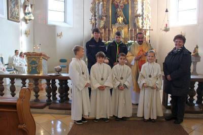 Foto zur Meldung: Beim Christkönigsfest auch die Hl. Cäcilia verehrt