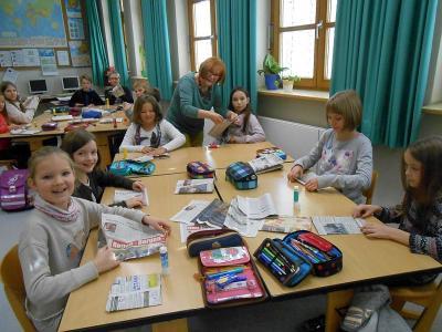 Foto zur Meldung: Der deutsche Kinderschutzbund zu Besuch in der 4. Klasse Grundschule