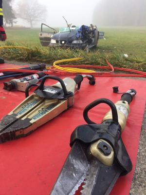 Foto zu Meldung: Schwerer Verkehrsunfall - OVS Rettenbach - Kollbach