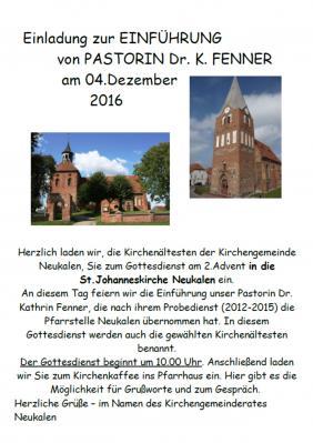 Foto zur Meldung: Einladung zur Einführung von Pastorin Dr. K. Fenner