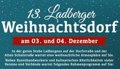Foto zur Meldung: 13. Ladberger Weihnachtsdorf