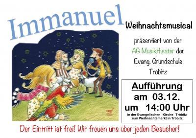 """Vorschaubild zur Meldung: """"Weihnachtsmusical - Immanuel"""" in Tröbitz"""