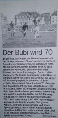 Foto zu Meldung: Wir gratulieren unserem Ehrenmitglied Bubi Bründl zum Geburtstag
