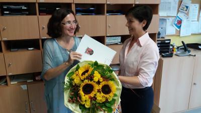 Foto zur Meldung: Dienstjubiläum Frau Schnepp