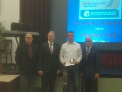Foto zur Meldung: ATG Spielleiter erhält DFB Ehrenpreis