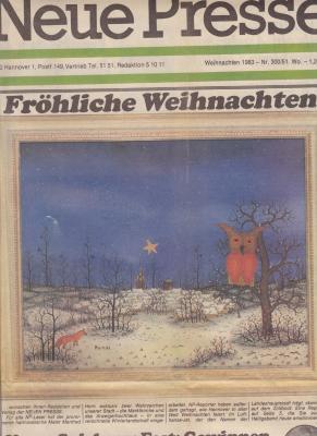 Vorschaubild zur Meldung: Titelseite Neue Presse Weihnachten 83