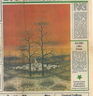 Vorschaubild zur Meldung: Titelseite Neue Presse Weihnachten 1979