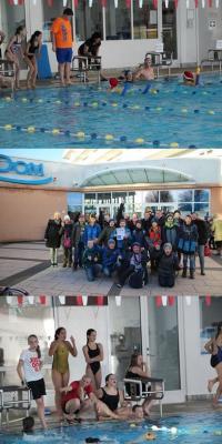 Foto zur Meldung: Alle Jahre wieder - Nikolausschwimmmen der 6. Klassen