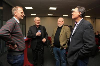 Horst Roch, Prof. Dr. Hans Joachim Schellnhuber, Hans-Jörg Kohlenberg und Burghard Wolters (vlnr)