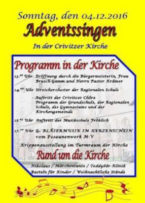 Foto zur Meldung: Adventsmarkt zum Adventssingen in der Crivitzer Kirche