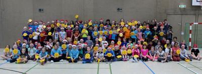 Foto zur Meldung: Völkerball-Turnier mit 134 Viertklässlern