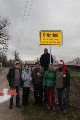 Foto zu Meldung: Ortsschild für Grünthal