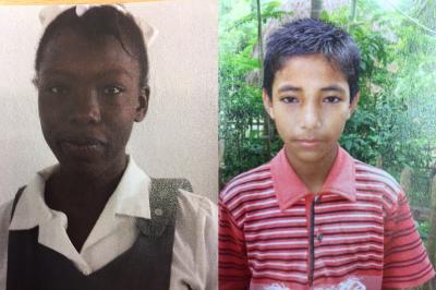 Foto zur Meldung: Vorgestellt: Yvelore Jean aus Haiti und Goutam aus Bangladesch