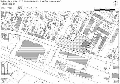 Übersichtsplan zum Bebauungsplan Nr. 101