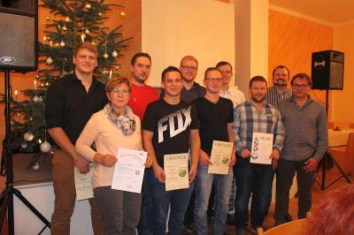 Foto zur Meldung: Jahresabschlussfeier beim SV - Herausragendes Ereignis war heuer die Doppelmeisterschaft
