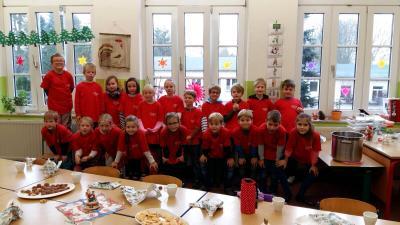 Foto zur Meldung: vorweihnachtliches Projekt der Klasse 2a