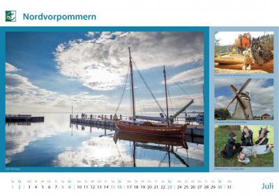 LEADER Kalender - Kalenderblatt Juli 2017