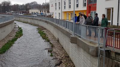 Vorschaubild zur Meldung: Übergabe weiterer Hochwassermaßnahmen nach dem Junihochwasser 2013