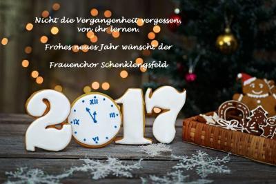 Foto zur Meldung: Frohes neues Jahr 2017 wünscht der Frauenchor Schenklengsfeld
