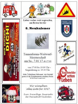 Foto zur Meldung: Tannenbaum - Weitwurf - Meisterschaft 2017